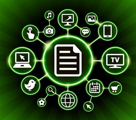 Document Internet Communication Technology Dark Buttons Background