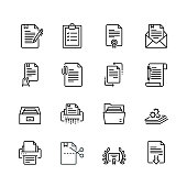 Simple Set of Document Related Color Vector Line Icons. Contains such Icons as Batch Processing, Legal Documents, Clipboard, Download, Document Flow and more. Editable Stroke. 32x32 Pixel Perfect.