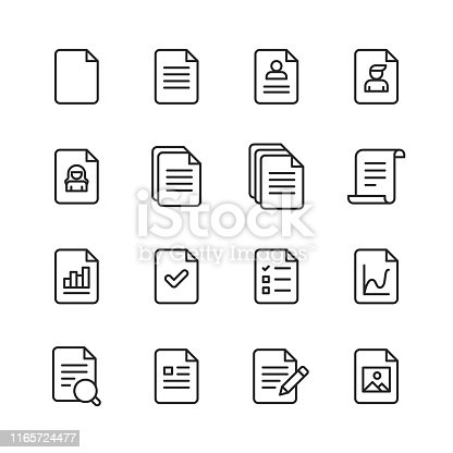 16 Document Outline Icons.