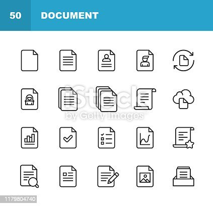 20 Document Outline Icons.
