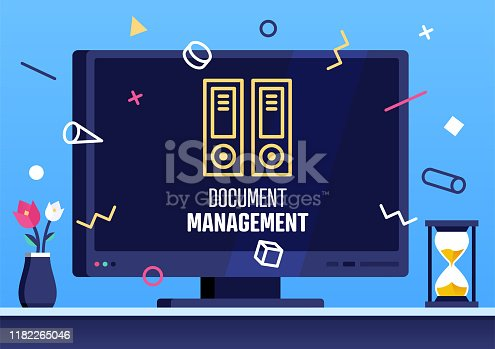 istock Document Management Modern Flat Design Concept 1182265046