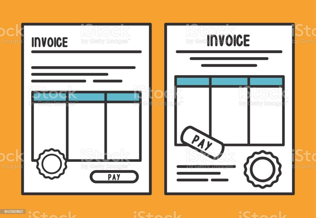 document paper invoice payment icon vector graphic stock vector art