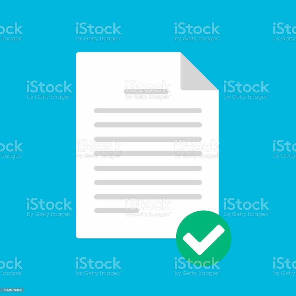 Document Paper Sheet Page With Claim Form Check Mark Tick Text Icon