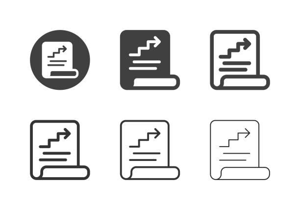 Document Report Icons - Multi Series vector art illustration