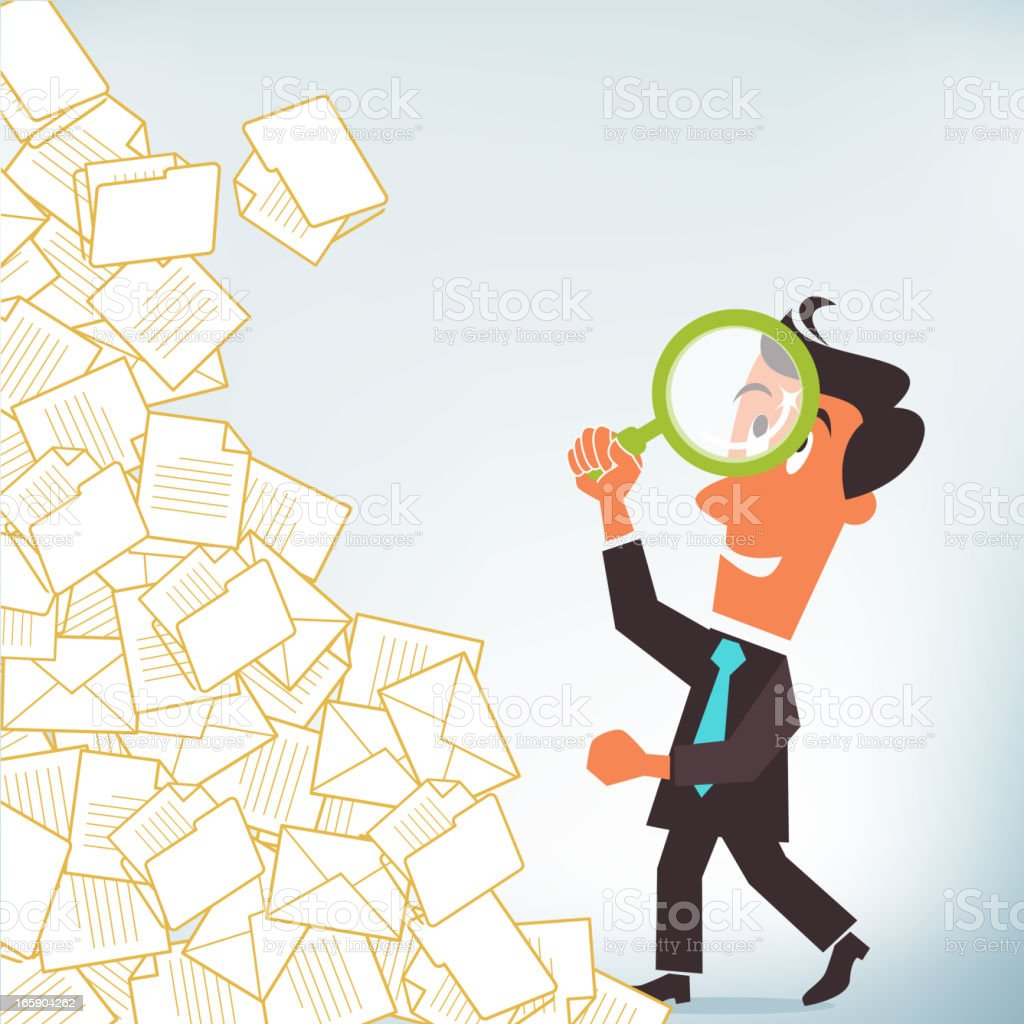 Document Search royalty-free stock vector art