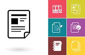 Document vector icon or file symbol