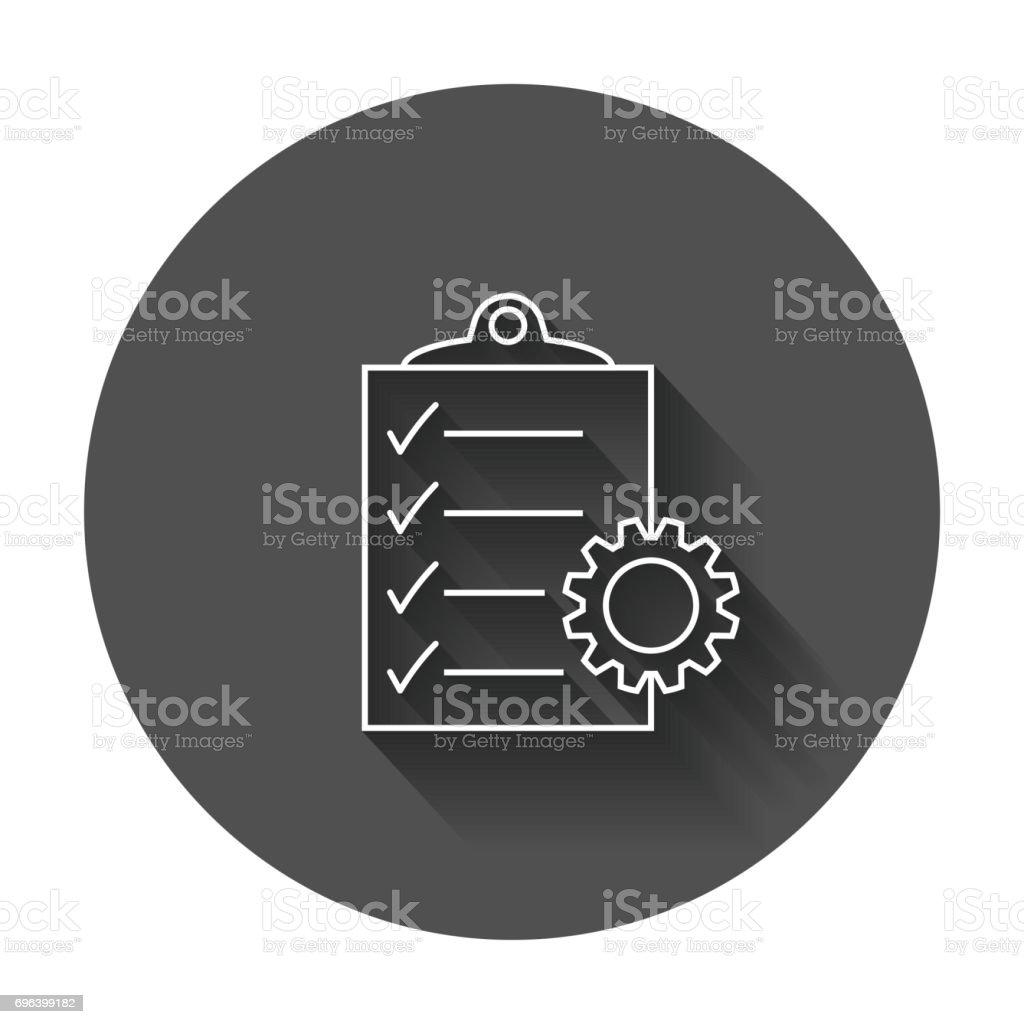 Document vector icon. vector art illustration