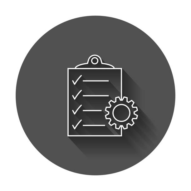 ilustraciones, imágenes clip art, dibujos animados e iconos de stock de icono de vector del documento. - tareas domésticas