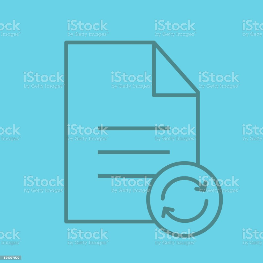 Document with cycling arrows icon royalty-free document with cycling arrows icon stock vector art & more images of arrow symbol