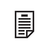 Document with pen - black icon on white background vector illustration for website, mobile application, presentation, infographic. Page concept sign design. Business paper blank.