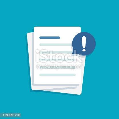 istock Document with 1190991276