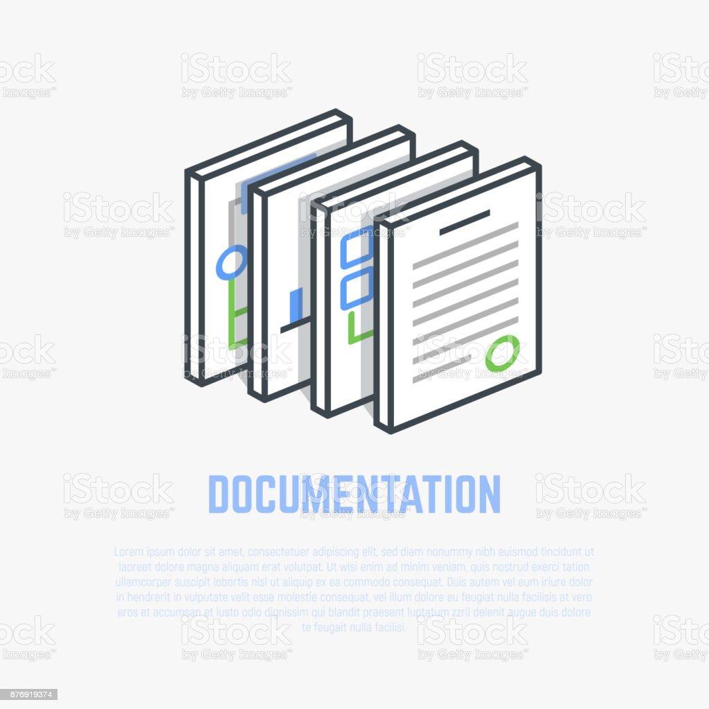 Isometrische Darstellung Dokumentation – Vektorgrafik