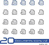 Documents Icons 1 - Line Series