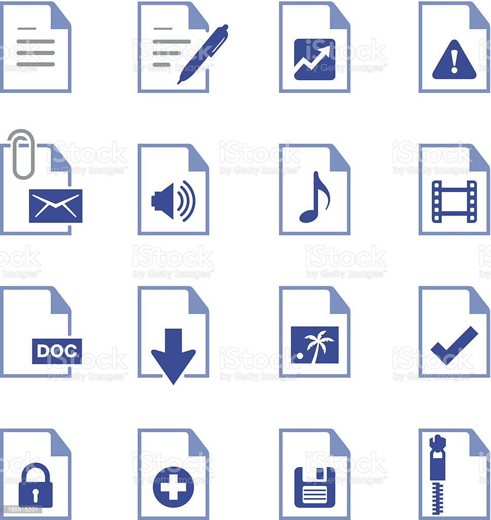 Documents Icons - Pro Series royalty-free stock vector art