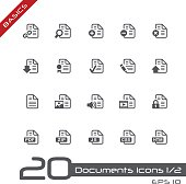 Documents Icons Set 1 of 2 - Basics