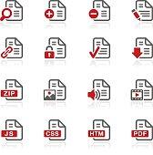 Documents Icons Set 1 // Redico Series