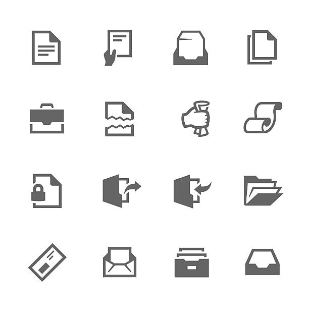 Documents Icons Simple Set of Documents Related Vector Icons for Your Design. inserting stock illustrations