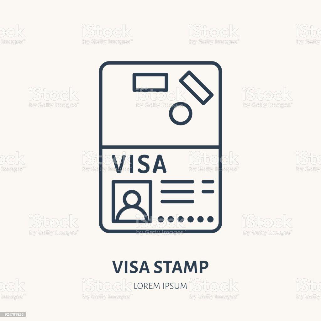 Documents identity vector flat line icon visa stamp passport sign documents identity vector flat line icon visa stamp passport sign royalty free biocorpaavc Choice Image