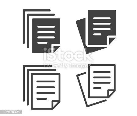 istock Documents - Illustration Icons 1266753042