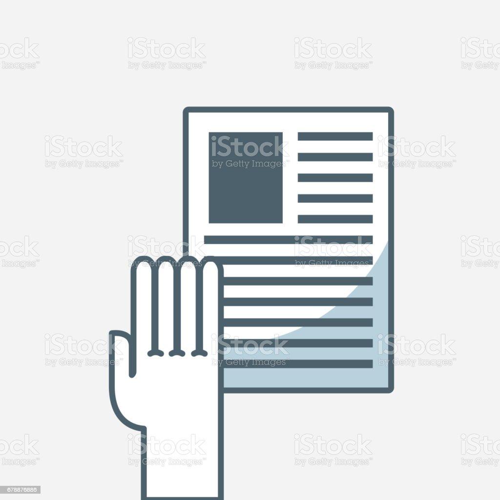 icône plate de documents papier icône plate de documents papier – cliparts vectoriels et plus d'images de accord - concepts libre de droits