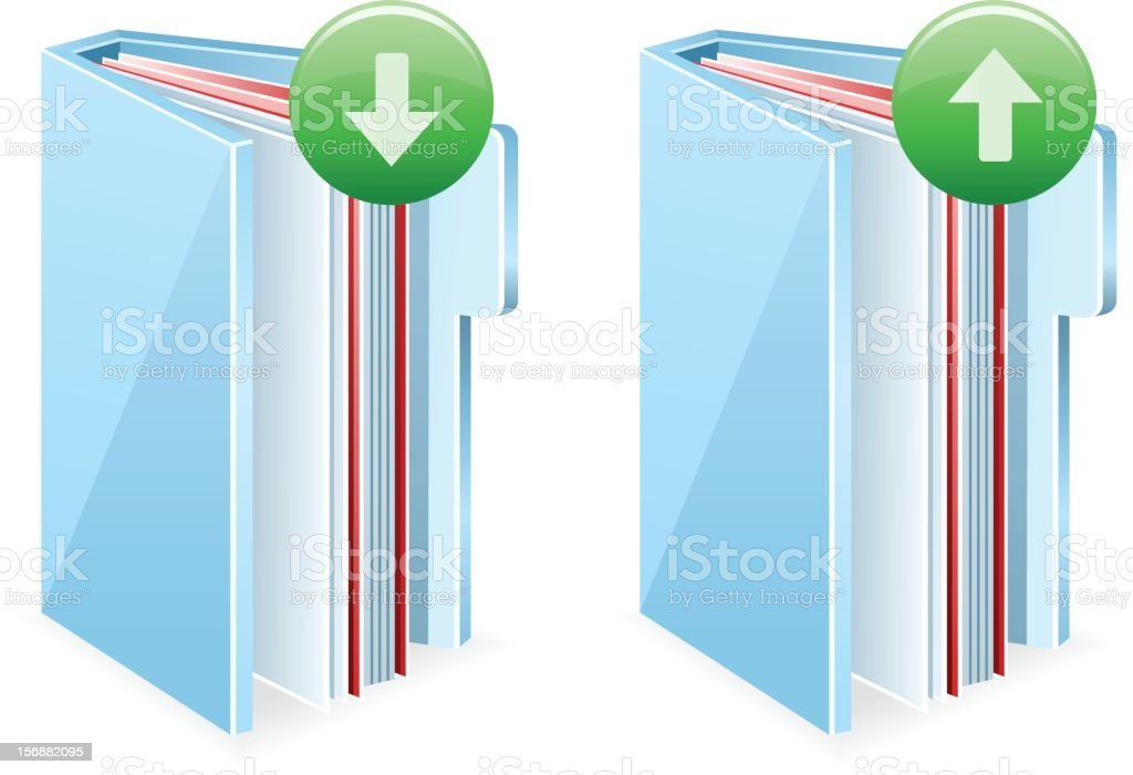 Documents Upload and Download royalty-free stock vector art