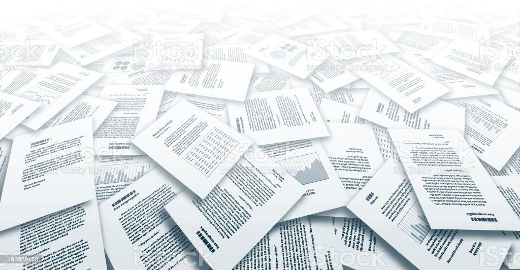 Documents royalty-free stock vector art