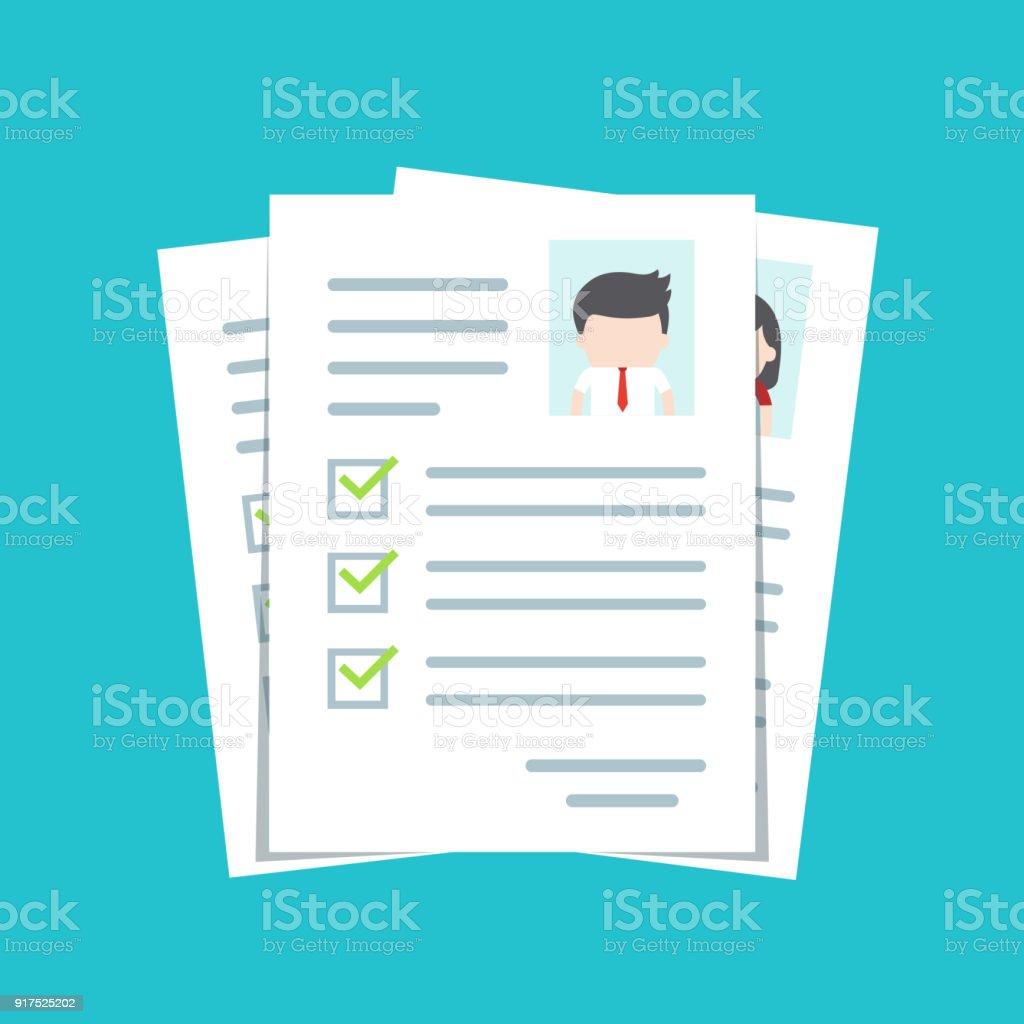 Ilustración de Documentos Con Datos Personales Cv Cv Plantilla ...