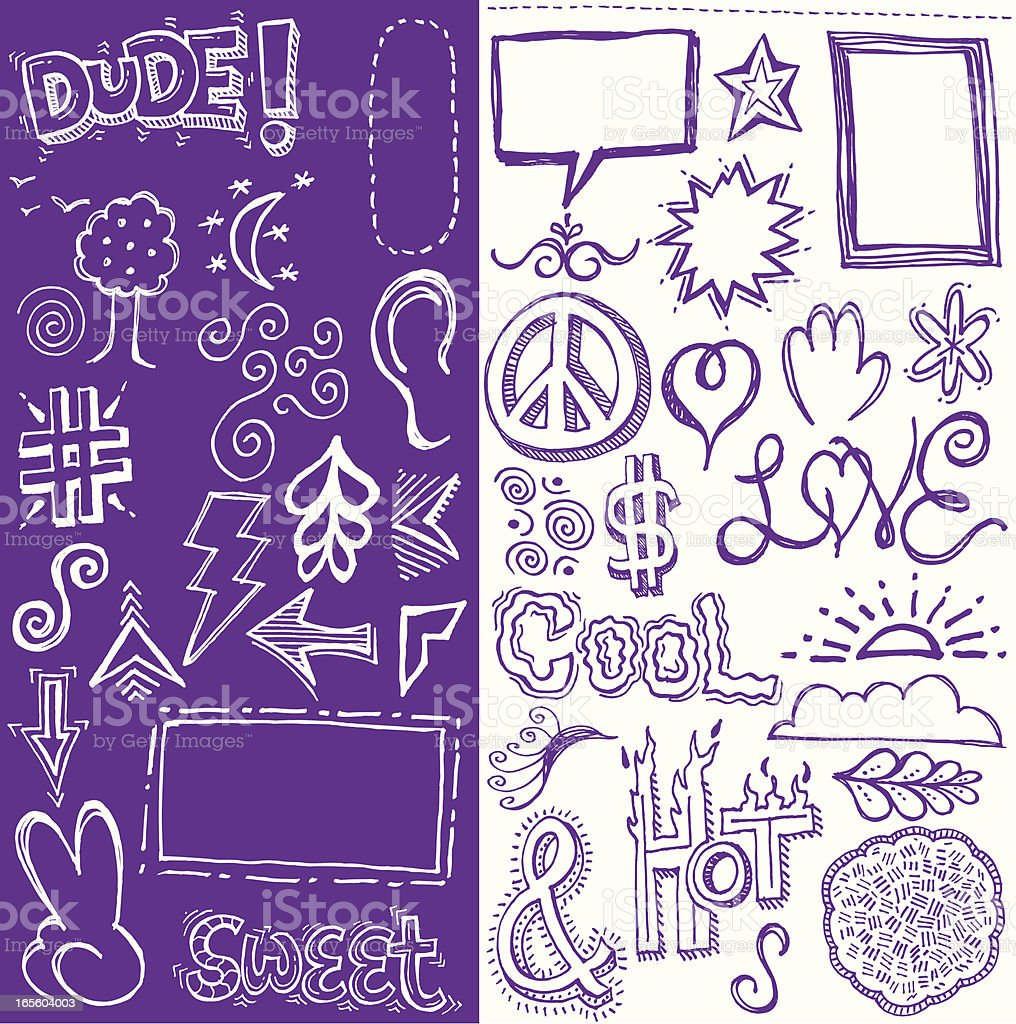 Doddles in Love with Hot and Cool royalty-free doddles in love with hot and cool stock vector art & more images of adult