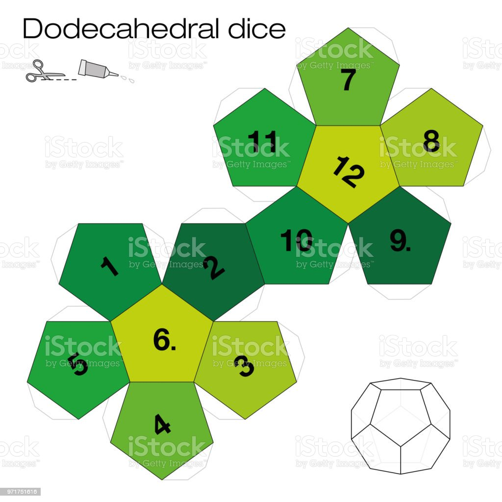 Dodecahedron Template Dodecahedral Dice One Of The Five Platonic