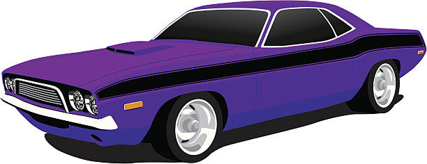 royalty  dodge charger clip art vector images