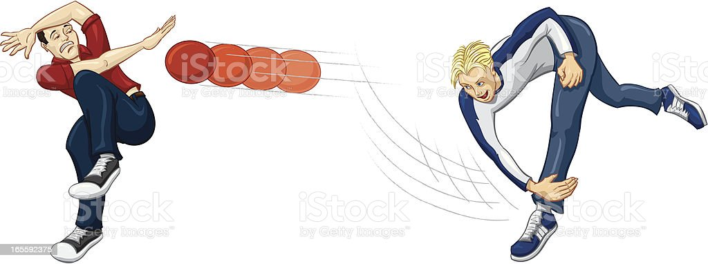 dodgeball royalty-free stock vector art