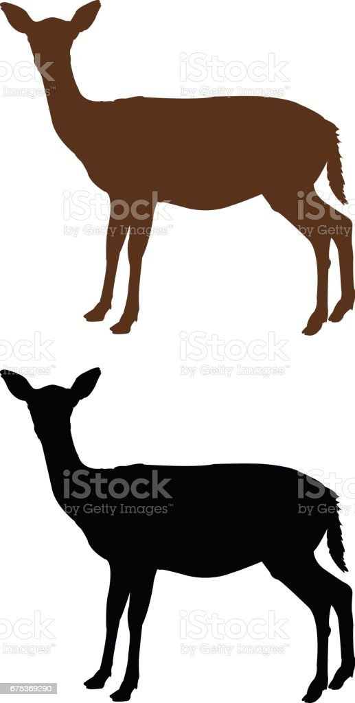 Silhouette de biche - Illustration vectorielle