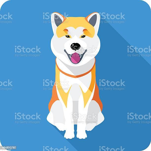 Dog akita inu japanese breed icon flat design vector id464810792?b=1&k=6&m=464810792&s=612x612&h= u4sausnpwwnj8tjlnzvg6vnrul6edbvvnupbkp5rw0=