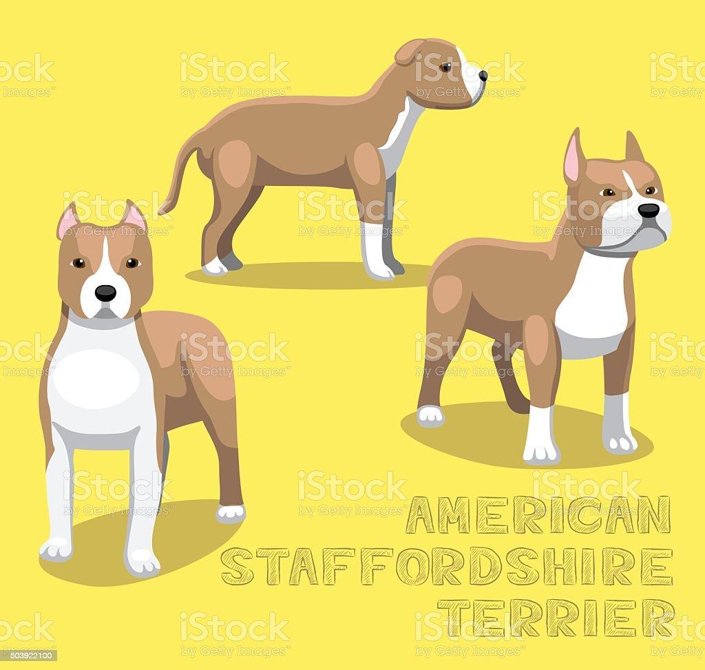 Dog American Staffordshire Terrier Cartoon Vector Illustration vector art illustration