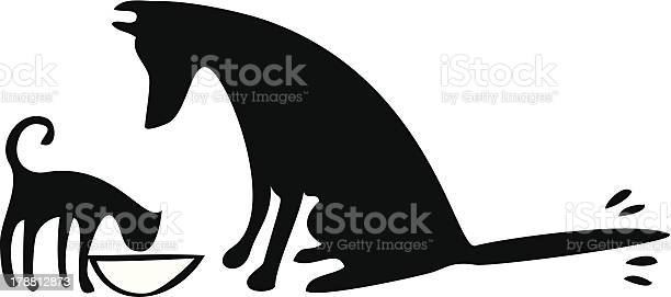 Dog and cat eating together vector id178812873?b=1&k=6&m=178812873&s=612x612&h=cthnt nhr5kynr1naxwxuvg2siuslrrut4mqkgeaxoe=