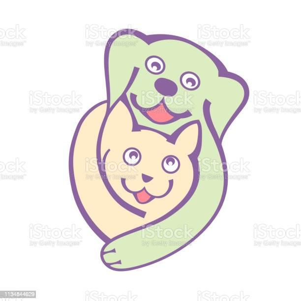 Dog and cat hug togheter with love logo on white bckground vector id1134844629?b=1&k=6&m=1134844629&s=612x612&h=zsashtf8gnidrbanh43u2zlhjlantqh9ogc72sq9cvk=