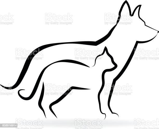 Dog and cat icon silhouettes vector id838916914?b=1&k=6&m=838916914&s=612x612&h=p9ghuhck65jjjqrabwsousxg9spyqeacszi80r0azbu=