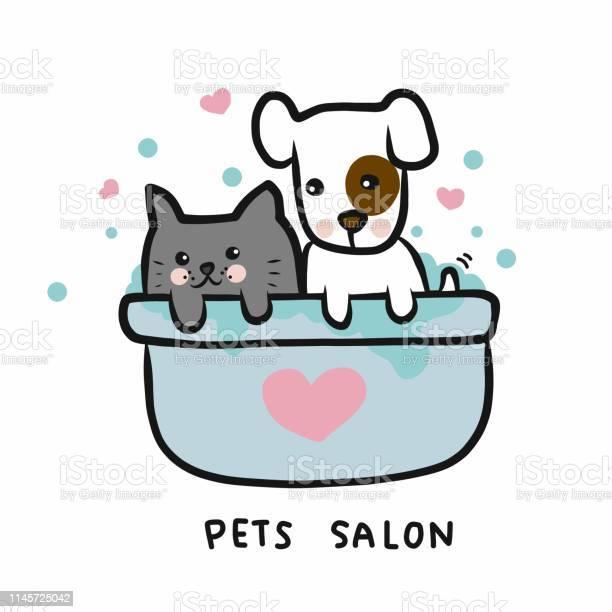 Dog and cat in shower bathtub pets salon cartoon vector illustration vector id1145725042?b=1&k=6&m=1145725042&s=612x612&h=tqufx73p9id2ocos2yzun6gvpezhsyakfof0uzh jh8=