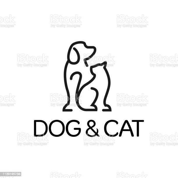 Dog and cat logo design template graphic sitting puppy logotype sign vector id1139195756?b=1&k=6&m=1139195756&s=612x612&h=yz6l4rnr9gsndswrdpgjboishans3kyljkirbrtgyi0=
