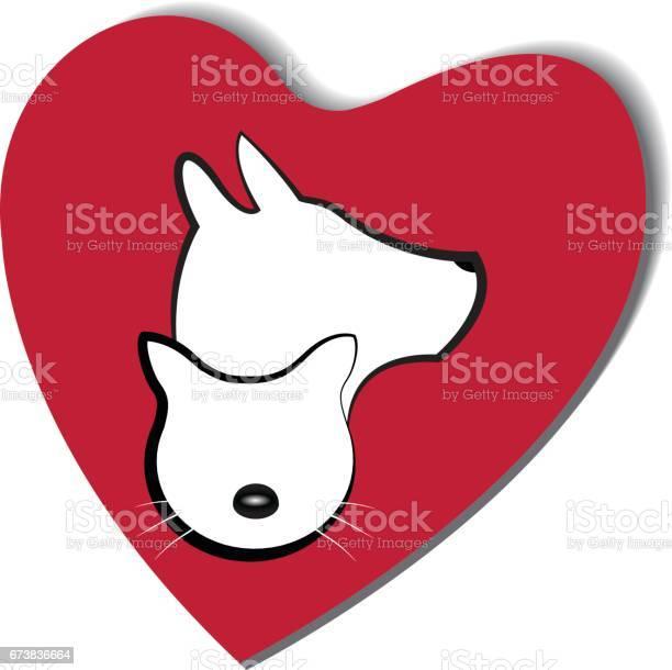 Dog and cat love heart logo vector id673836664?b=1&k=6&m=673836664&s=612x612&h=pzsbmercoj4ouo72nzod9 jferi3i0zqw3aqdzix2ug=