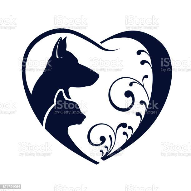 Dog and cat love heart vector graphic vector id871754064?b=1&k=6&m=871754064&s=612x612&h=opv4ckgzjh5tjc5wtqnogxk4tuh3e2qen4ffulgxrvc=