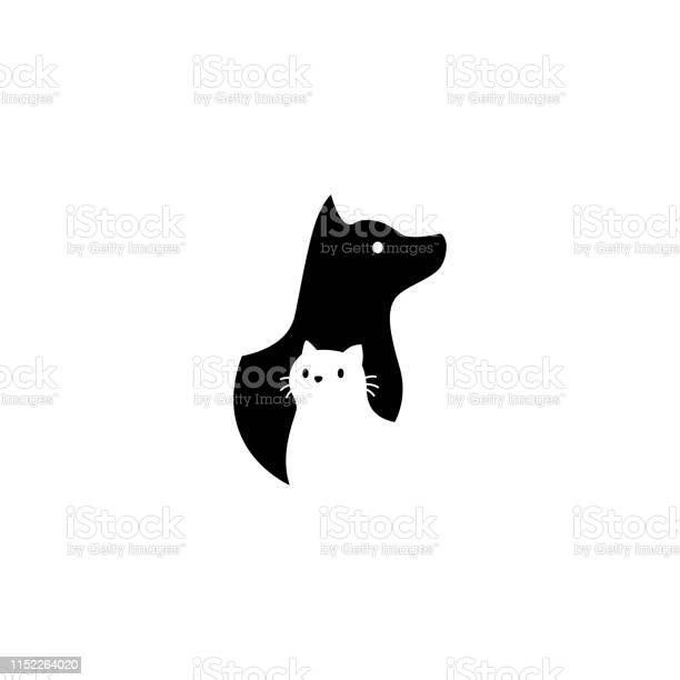 Dog and cat on negative space vector icon illustration vector id1152264020?b=1&k=6&m=1152264020&s=612x612&h=o38ki hinrlh0w4nsy1p43 7dtyewjpiiwo6bb7yhii=
