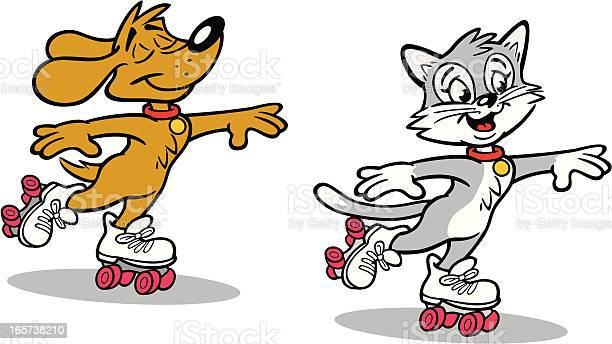 Dog and cat roller skating vector id165738210?b=1&k=6&m=165738210&s=612x612&h=7perye5e fjmrrcdx23ipnr5jrty1kxpig6bzrkgc14=