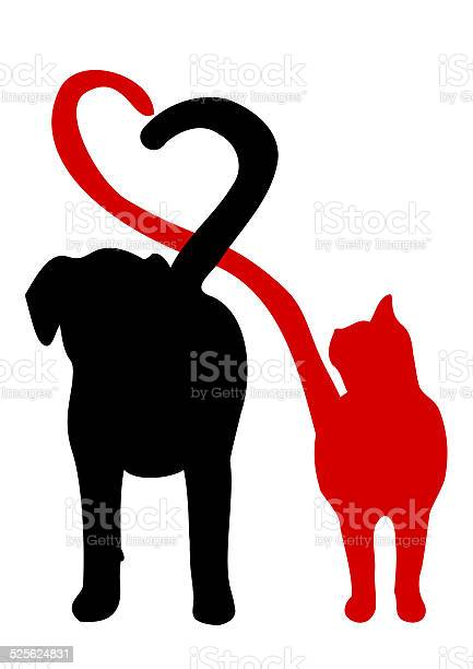 Dog and cat silhouette making a heart in the tail vector id525624831?b=1&k=6&m=525624831&s=612x612&h=gwebf308b97yuz 0ukhcmqgmb t5hkvgltdjo jlcim=