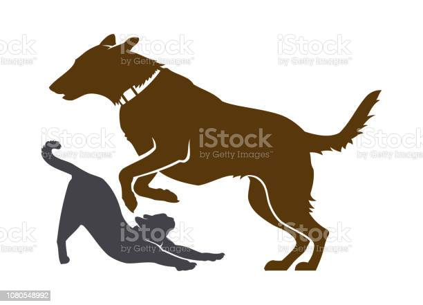 Dog and cat silhouettes pet service icon vector id1080548992?b=1&k=6&m=1080548992&s=612x612&h= sxkqzhanhjntegybvos7xurei6ku14wafncqwxcnma=
