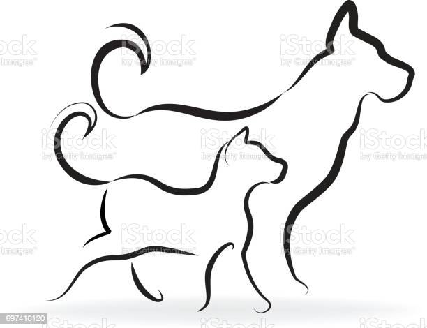 Dog and cat silhouettes vector id card vector id697410120?b=1&k=6&m=697410120&s=612x612&h=xn w2y7wnrcqivlyp5wqq fiu6x2kfn dnzh7w12no0=