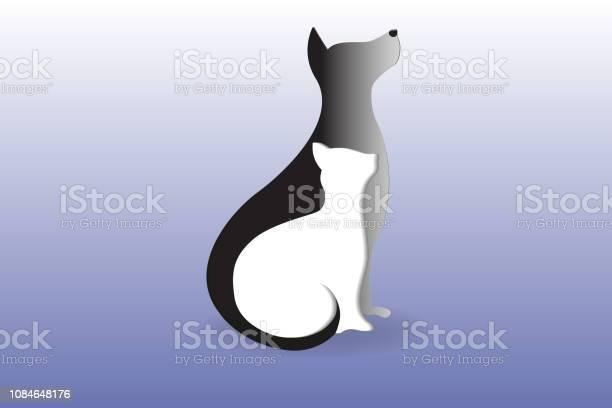 Dog and cat sitting silhouettes vector id1084648176?b=1&k=6&m=1084648176&s=612x612&h=iac5kyfodfuf3sau8ubw8xnpjk9nonvh gbquwjbogo=