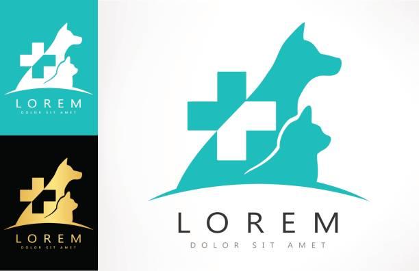 dog and cat - veterinarian stock illustrations, clip art, cartoons, & icons