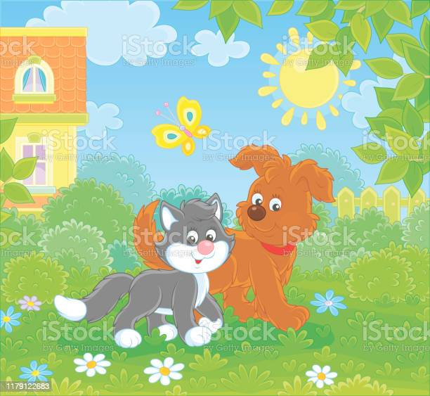 Dog and cat walking together vector id1179122683?b=1&k=6&m=1179122683&s=612x612&h=3nxgpkh0ferk8hng cfjoa3zkhwawy7daazigg8ozgq=
