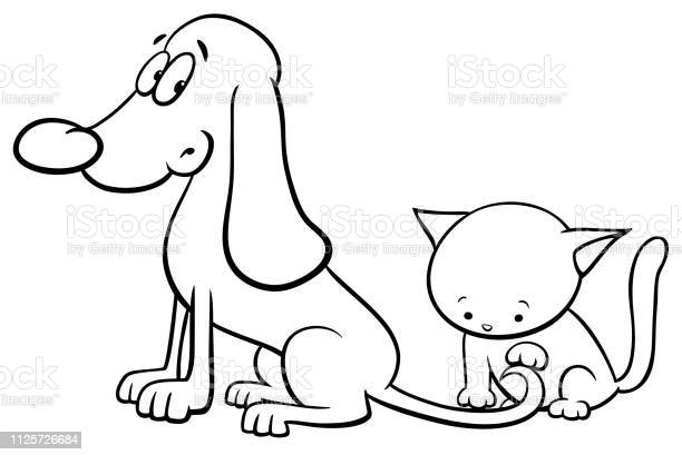 Dog and kitten characters cartoon color book vector id1125726684?b=1&k=6&m=1125726684&s=612x612&h=5kytzr gtkka2gxmfb0j4wan1g1blkmnmtqh07mn8ma=